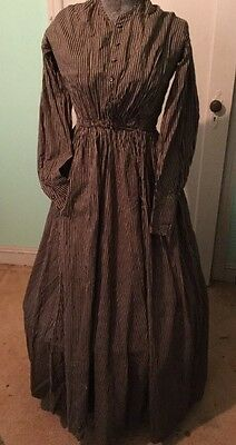 Antique Ladies 1800's Civil War / Victorian Dress