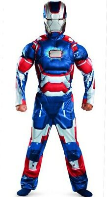 Avengers Ironman 3 Iron Patriot Muscle Costume 10-12 Large New w Chest Arc glows