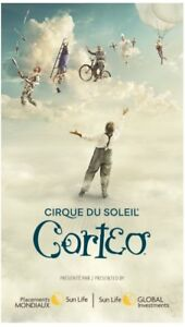 Billets CORTEO Cirque du soleil 1ère rangée - 1st row Tickets