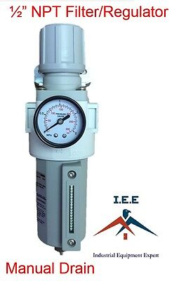 Air Pressure Regulator Filter Combo Compressor 12 Free Gauge