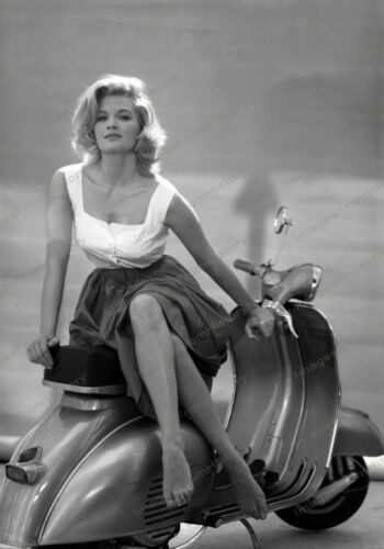 8x10 Print Angie Dickinson Sexy Leggy Portrait Posed Vespa Scooter 1962 #76967
