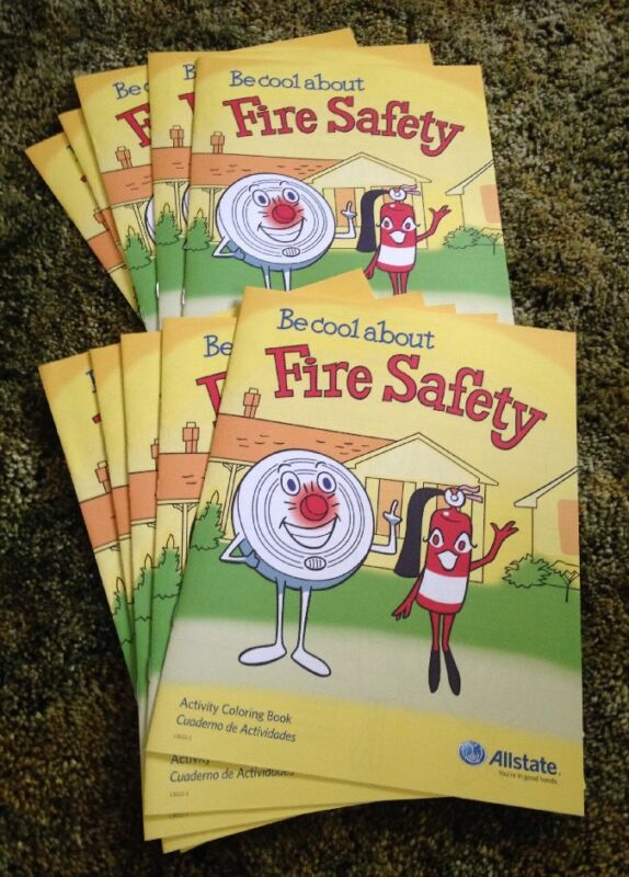 Be Cool About Fire Safety Allstate Insurance Activity Coloring Book 10 Pack Lot