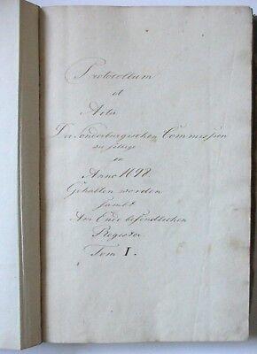 Protocollum et Acta,1698, Sonderburgischen Commission, Handschrift, Sonderborg