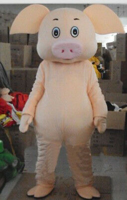 Mascot Party Cosplay Pig Parade Costume Outfits Game Halloween Adult Sport Dress](Sports Mascot Halloween Costumes)