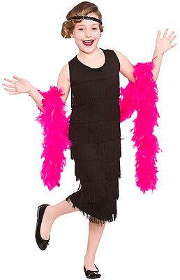 20's Charleston Girl Kinderkostüm schwarz NEU - Mädchen Karneval Fasching - Charleston Mädchen Kostüm