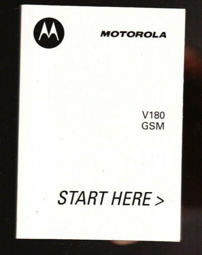 MOTOROLA V180 GSM WIRELESS PHONE GUIDE MANUAL 225 PAGES NICE SHAPE!