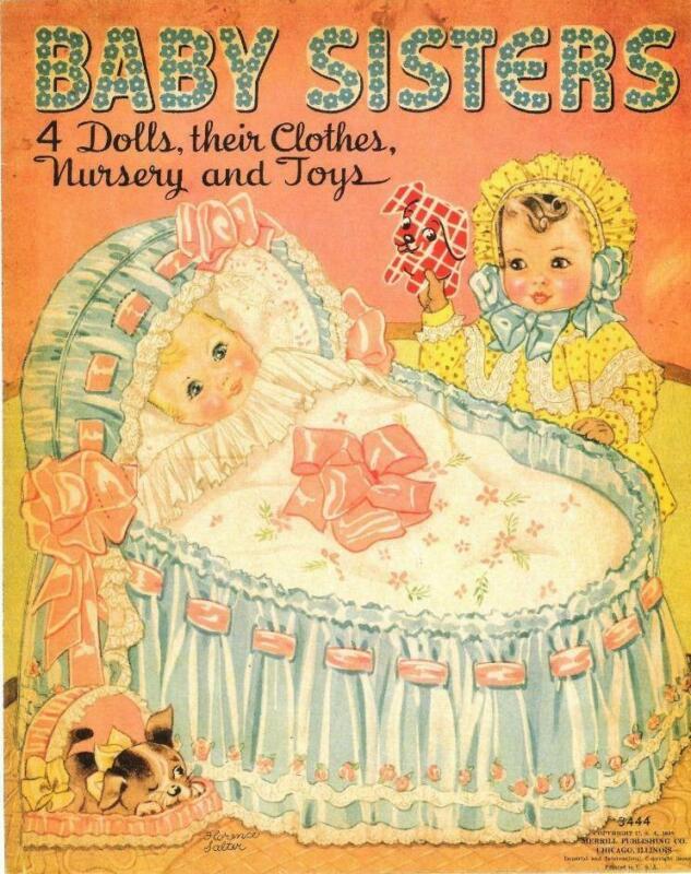 VINTAGE UNCUT 1938 BABY SISTERS PAPER DOLLS~#1 REPRODUCTION~NOSTALGIC/SCARCE!