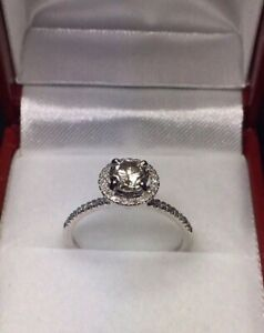 New 0.73ct Halo Ring