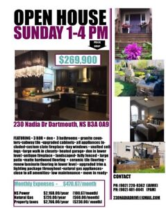 Open House Today | 230 Nadia Drive