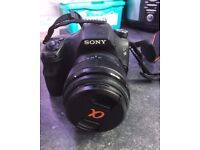 Sony a58SLT Camera with 18-55 and 75-300 lenses