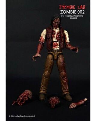 1/18 FIGURE - ZOMBIE LAB  Parts Interchangeable - (#011) Zombie 002  Free Ship (Zombie 1)
