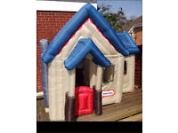 EXTREMELY RARE LITTLE TIKES INFLATABLE VICTORIAN PLAYHOUSE FREE DELIVERY