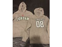 JORDAN AND CONVERSE BOYS HOODIES JUMPERS SIZE M