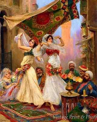 Harem Dancers by Fabio Fabbi Art Arab Girls Perform Men Watch 8x10 Print 0766 - Arab Harem Girls