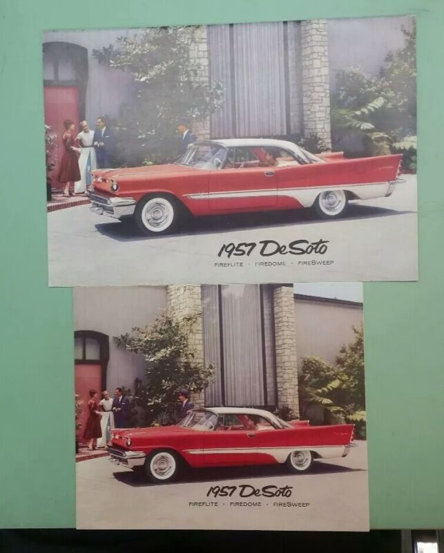 1957 DeSoto deluxe brochure with small fold out
