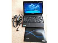 """Acer Aspire One 10.1"""" laptop (model AO531). Complete with power supply, original box and guide."""