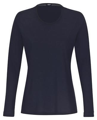AMMANN Damen Mix & Match Shirt Langarm Gr. 44 dunkelblau Loungewear Pyjamashirt
