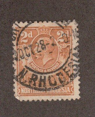 Northern Rhodesia 4 - King George V. 2d  Used.  #02 NRHOD4