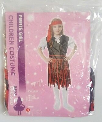 Best Dressed Pirate Girl Children Costume  Size S  Age 4-6