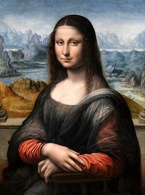 - Art Giclee Canvas Print Mona Lisa Smile Oil painting Printed on canvas P731