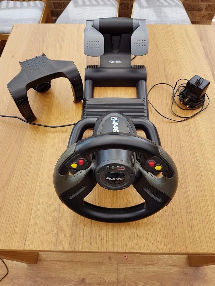 Saitek r440 force feedback* wheel & pedals | ebay.