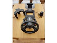 Saitek R440 force feedback wheel for PC with pedals