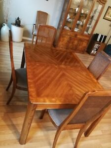 Free EUC oak dining table, chairs and buffett