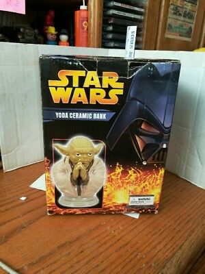 (2005 Star Wars Yoda Ceramic Bank MIB)