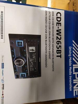 ALPINE CDEW265BT CDE-W265BT D-DIN RADIO BLUETOOTH
