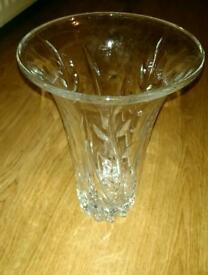 Lovely glass vase with flowers. Very stylish good quality
