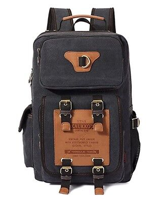 Super Military Backpack Kaukko Black Backpack