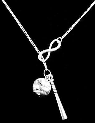Necklace Baseball Bat Softball Sports Theme Mom Christmas Gift Lariat Jewelry](Baseball Theme)