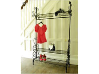 Black Ornate Clothes Rail - Shabby Chic Vintage Style