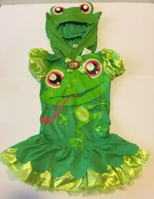 Hasbro Littlest Pet Shop Frog Halloween Costume Party Small 4-6X 2 Piece (Pet Party Halloween)