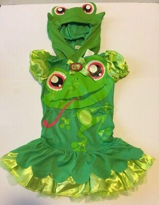 Hasbro Littlest Pet Shop Frog Halloween Costume Party Small 4-6X 2 Piece