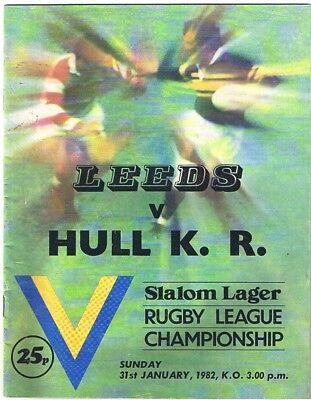 Leeds v Hull Kingston Rovers 1981/2 (31 Jan)