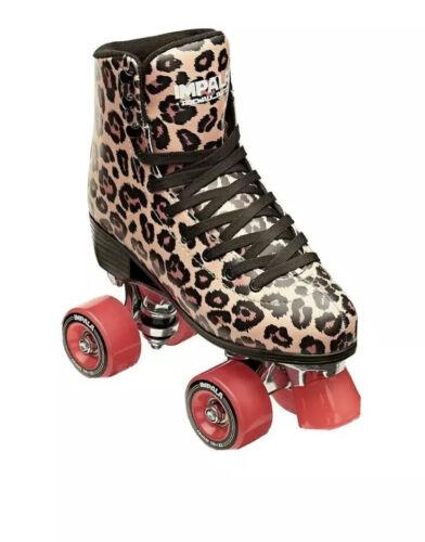 Impala Leopard Quad Roller Skates | Women's Size 9 / 40 |