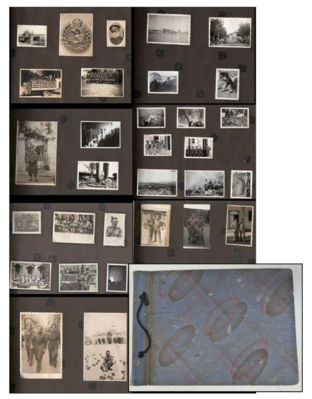 WW2 Jewish personal photograph album- Jewish soldier British army Palatine Rare