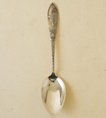 Vtg Sterling Silver Souvenir Spoon Salt Lake City Utah 1938 Ornate Capitol Vtg