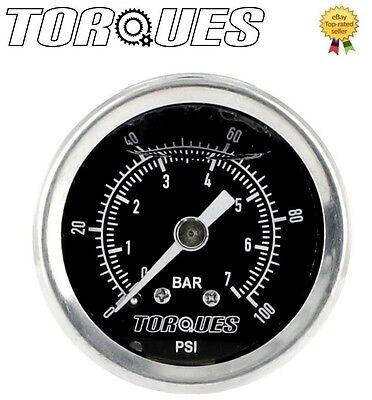 Torques Analog Fuel Pressure Gauge 1/8