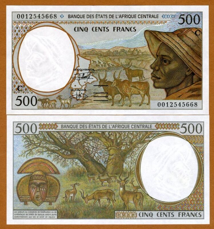 Central African States, Congo, 500 francs, 2000, Pick 101Cg, UNC