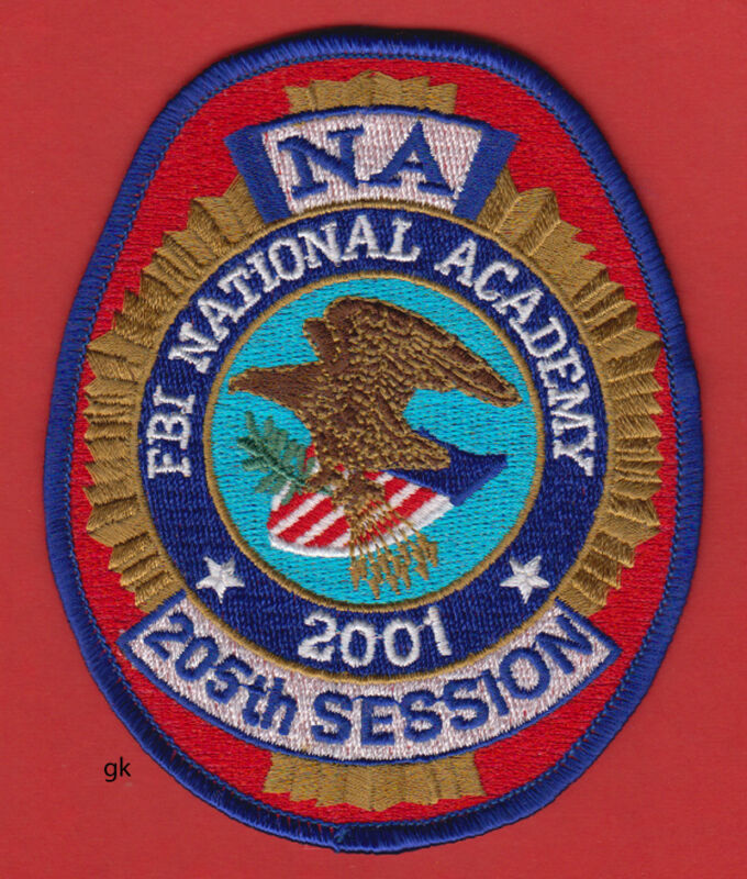 FBI NATIONAL ACADEMY 205th SESSION POLICE SHOULDER PATCH