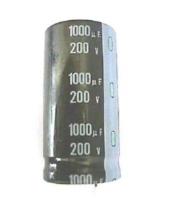 2pcs 1000uf 200v 1000mfd 200volt Electrolytic Capacitor 2545mm New