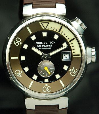LOUIS VUITTON Tambour DIVER 300M Mens Automatic WATCH Super Compressor Q1031 SS