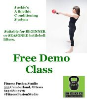 Get fit and lean with our kettlebell classes!