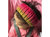 Chunky hair / head band for adult very soft and warm 28% merino wool