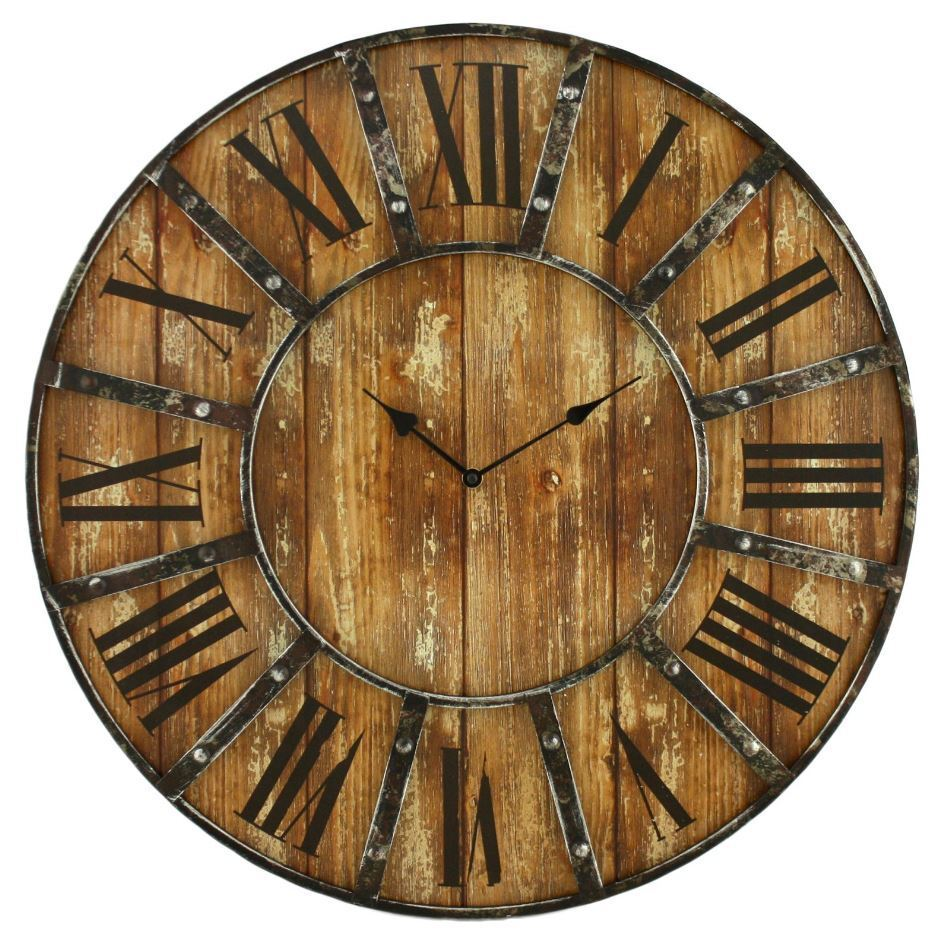 vintage clocks for walls oversized rustic antique clock large 24 quot distressed new ebay