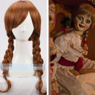 Annabelle Braun Brown Twist braid Long Lang Cosplay Kostüm Perücke wig Halloween