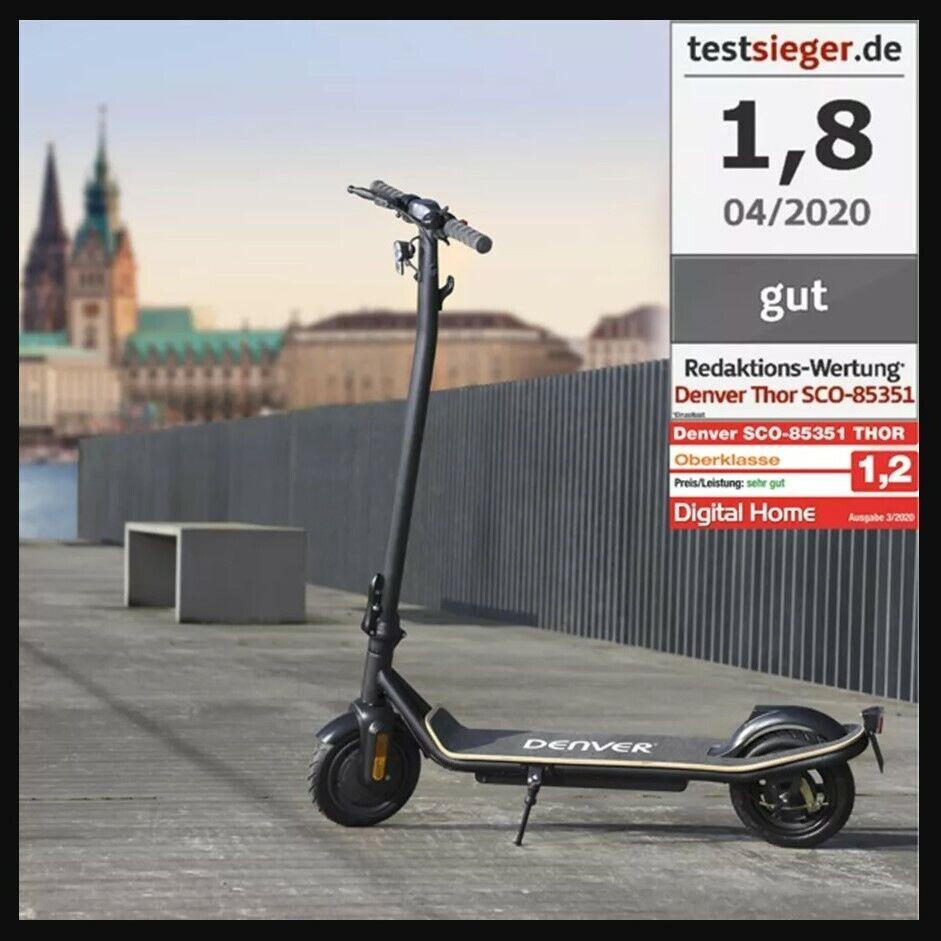 """NEU♻️ DENVER """"THOR"""" E-Scooter mit Straßenzulassung Elektroscooter SCO-85351"""