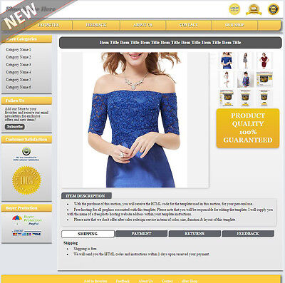 eBay Listing Template Mobile Responsive Layout Change No Active Content - MR2sn
